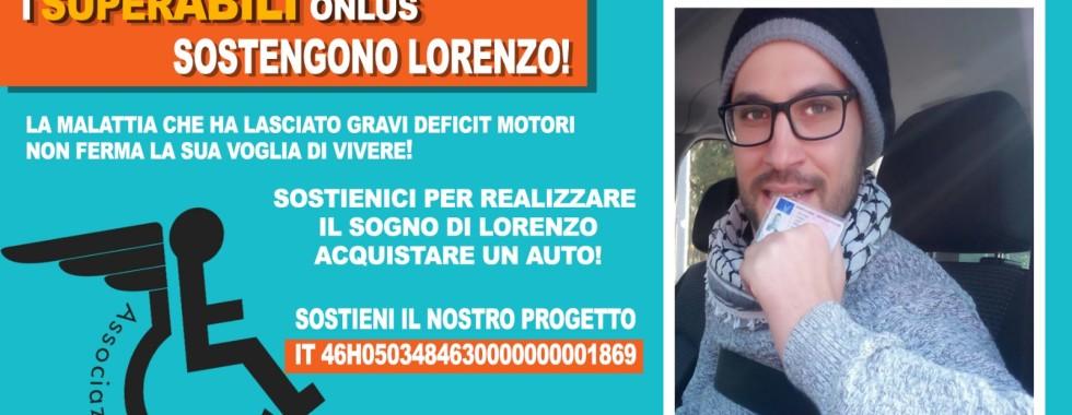 Locandina Lorenzo Della Luna#SuperAbili onlus